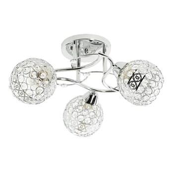 Srebrny żyrandol w stylu glamour - EX46-Amox