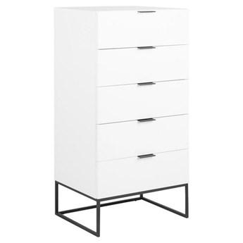 Biała komoda z szufladami do salonu - Pikon 4X