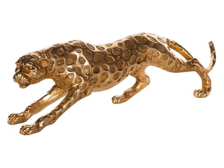 Figurka dekoracyjna złoty lampart gepard ozdoba 14 cm Kategoria Figury i rzeźby
