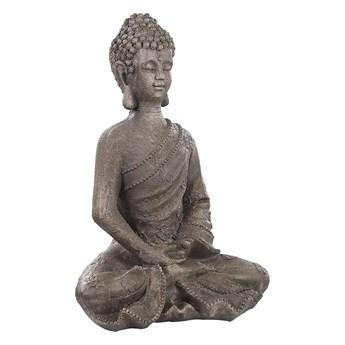 Wysoka figurka ogrodowa biała z tworzywa sztucznego Buddha człowiek ozdoba na ganek