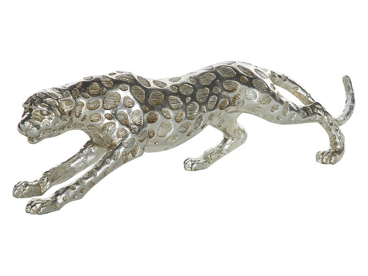 Figurka dekoracyjna srebrny lampart gepard ozdoba 14 cm Kategoria Figury i rzeźby