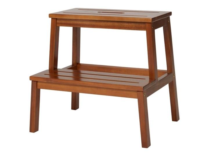Taboret ze schodkiem GoodHome Rozela Głębokość 43 cm Drewno Szerokość 34 cm Wysokość 40 cm Pomieszczenie Kuchnia Kategoria Krzesła kuchenne