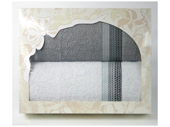 Komplet na prezent Frotex Ombre w pudełku Granatowy Bawełna Komplet ręczników Kategoria Ręczniki Frotte Kolor Beżowy