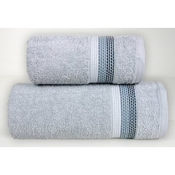 Komplet ręczników na prezent Frotex Ombre Jasny Popielaty