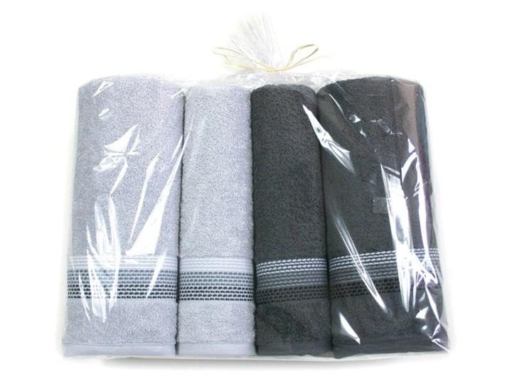 Komplet 4 Ręczników Na prezent Frotex Ombre Popielaty Bawełna Kategoria Ręczniki 70x140 cm Komplet ręczników Frotte 50x90 cm Kolor Szary