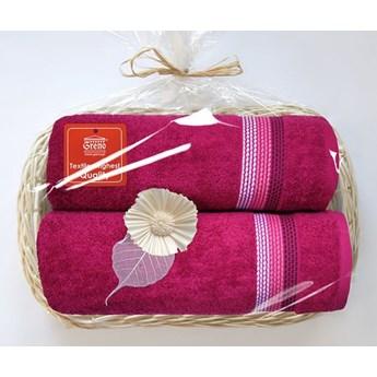 Komplet ręczników na prezent Frotex Ombre Fuksja