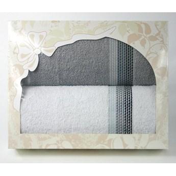 Komplet na prezent Frotex Ombre w pudełku Biały