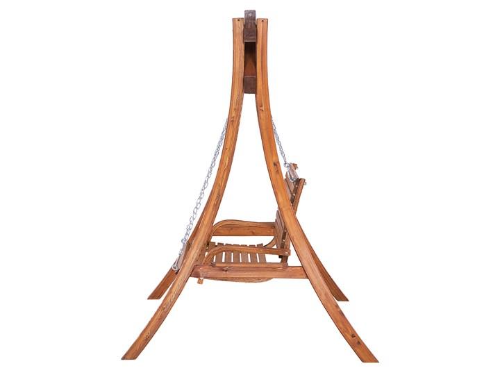 Huśtawka ogrodowa drewniana miejsce na 2 osoby tradycyjny rustykalny design Kategoria Huśtawki ogrodowe Typ Huśtawka ze stelażem