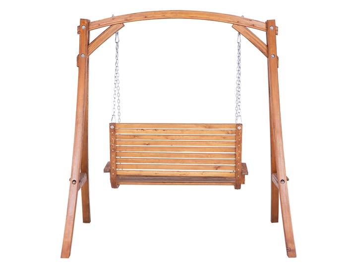 Huśtawka ogrodowa drewniana miejsce na 2 osoby tradycyjny rustykalny design Kategoria Huśtawki ogrodowe