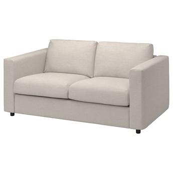 IKEA VIMLE Sofa 2-osobowa, Gunnared beżowy, Wysokość z poduchami oparcia: 83 cm