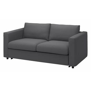 IKEA VIMLE Sofa 2-osobowa rozkładana, Hallarp szary, Wysokość łóżka: 53 cm