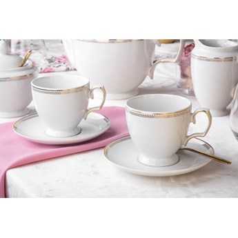 Filiżanki do kawy porcelana MariaPaula Promise 220 ml, zestaw 2 filiżanek