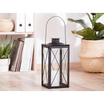 Latarenka / latarnia/ lampion ozdobny wiszący metalowy Altom Design kwadratowa czarna 34,5 cm