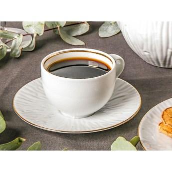 Zestaw kawowy dla 6 osób porcelana MariaPaula Natura Złota Linia (12 elementów)