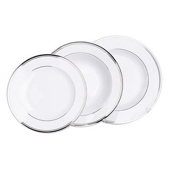 Zestaw obiadowy na 6 osób porcelana MariaPaula Platynowa Linia (18 elementów)