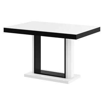 Rozkładany stół matowy biało czarny - Muldi 3X