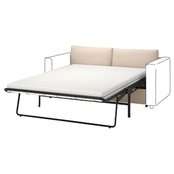 IKEA VIMLE Sekcja 2-os sofa rozkładana, Hallarp beżowy, Wysokość łóżka: 53 cm