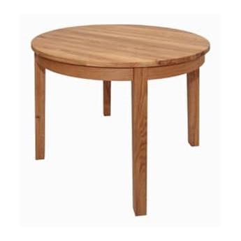 Stół drewniany, dębowy okrągły rozkładany Luna