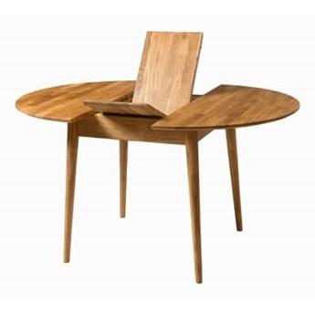 Stół drewniany, dębowy okrągły rozkładany FABIO 93+30, 100+30, 110+35 cm