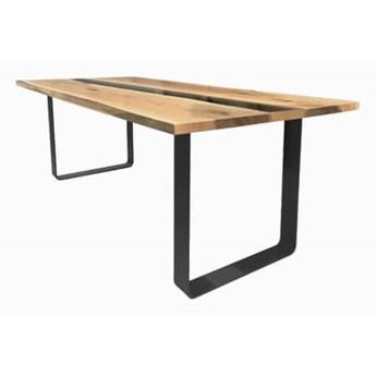 Stół drewniany, dębowy River Nero