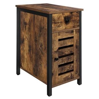 Bettso Głęboka szafka nocna Daven z szufladą w stylu industrialnym