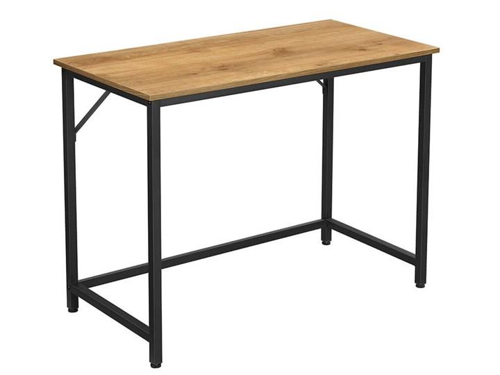 Bettso Eleganckie biurko w stylu industrialnym Drewno Głębokość 50 cm Metal Szerokość 100 cm Styl Nowoczesny
