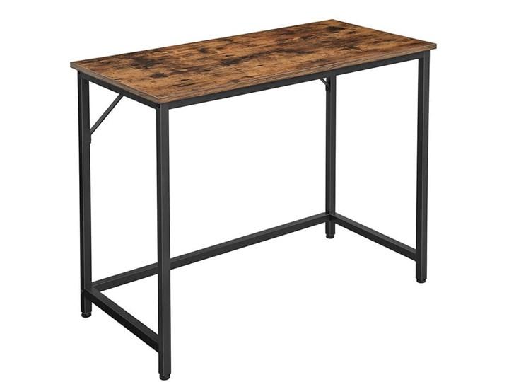 Bettso Eleganckie biurko w stylu industrialnym Szerokość 100 cm Głębokość 50 cm Drewno Metal Styl Nowoczesny