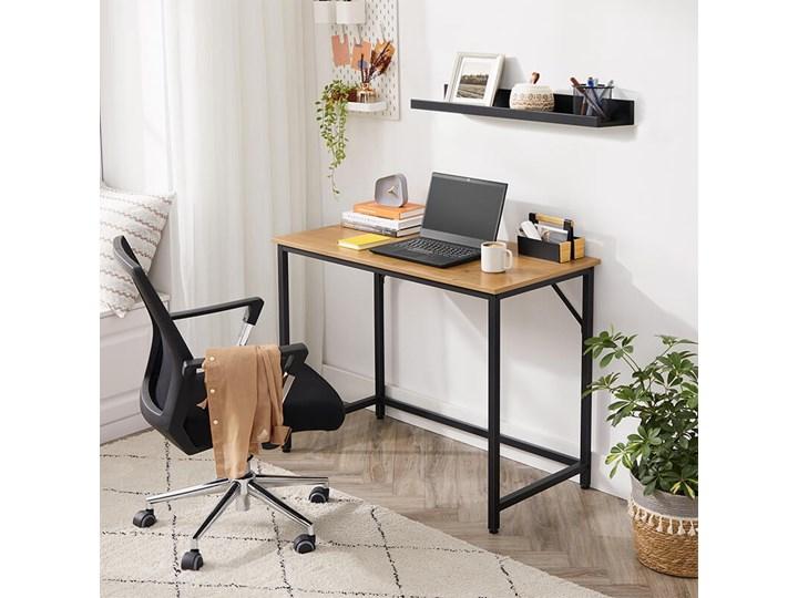 Bettso Eleganckie biurko w stylu industrialnym Głębokość 50 cm Styl Nowoczesny Metal Drewno Szerokość 100 cm Kategoria Biurka