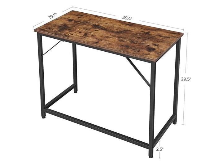 Bettso Eleganckie biurko w stylu industrialnym Metal Styl Nowoczesny Głębokość 50 cm Szerokość 100 cm Drewno Kategoria Biurka