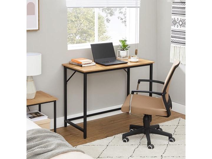 Bettso Eleganckie biurko w stylu industrialnym Kategoria Biurka Drewno Metal Szerokość 100 cm Głębokość 50 cm Styl Nowoczesny