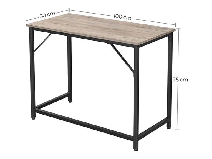 Bettso Eleganckie biurko w stylu industrialnym Szerokość 100 cm Drewno Głębokość 50 cm Metal Kategoria Biurka
