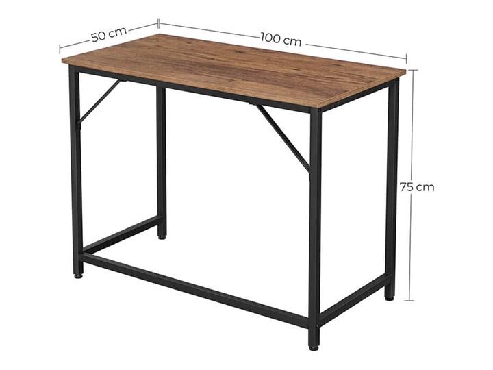 Bettso Eleganckie biurko w stylu industrialnym Głębokość 50 cm Drewno Metal Szerokość 100 cm Kategoria Biurka Styl Nowoczesny