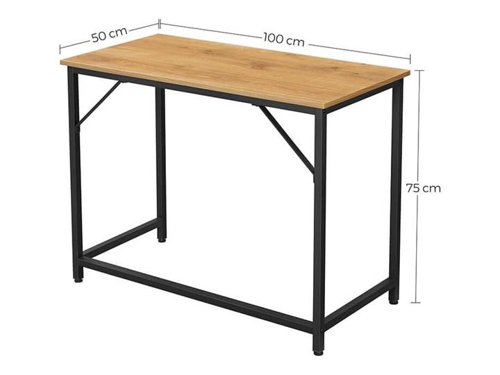 Bettso Eleganckie biurko w stylu industrialnym Głębokość 50 cm Szerokość 100 cm Metal Drewno Kategoria Biurka