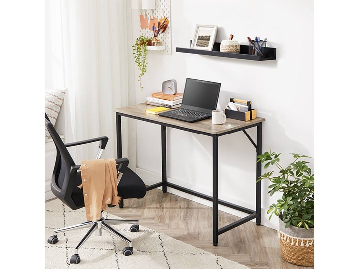 Bettso Eleganckie biurko w stylu industrialnym Głębokość 50 cm Metal Drewno Szerokość 100 cm Styl Nowoczesny