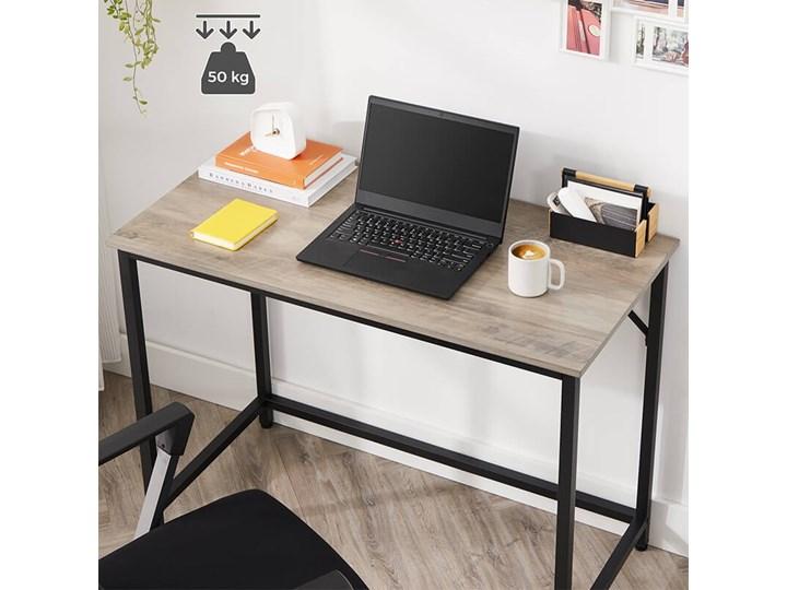 Bettso Eleganckie biurko w stylu industrialnym Szerokość 100 cm Głębokość 50 cm Kategoria Biurka Metal Drewno Styl Nowoczesny