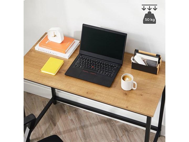 Bettso Eleganckie biurko w stylu industrialnym Głębokość 50 cm Drewno Metal Szerokość 100 cm Styl Nowoczesny