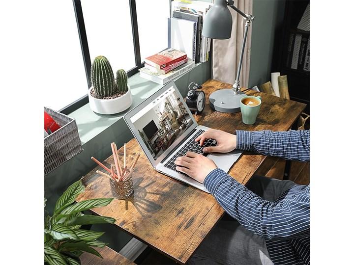 Bettso Eleganckie biurko w stylu industrialnym Szerokość 100 cm Styl Nowoczesny Głębokość 50 cm Metal Drewno Kategoria Biurka