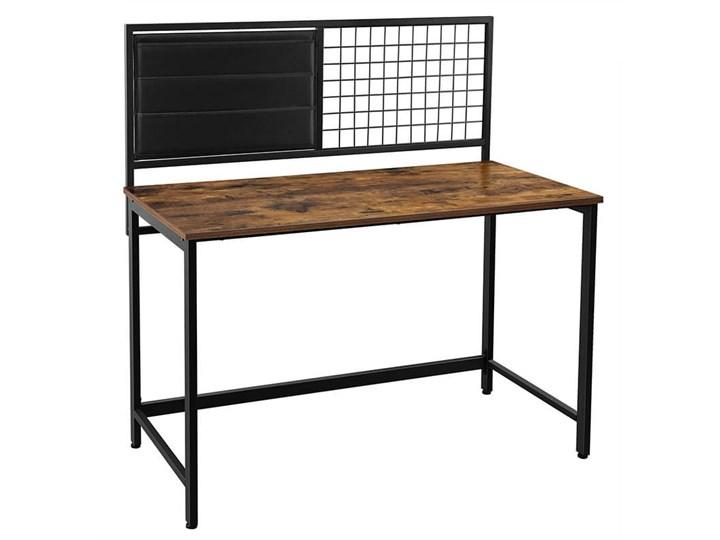 Bettso Industrialne biurko z przybornikiem / Rustic brown Metal Drewno Głębokość 60 cm Kolor Brązowy