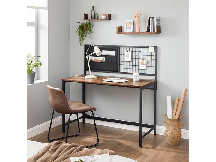 Bettso Industrialne biurko z przybornikiem / Rustic brown Metal Głębokość 60 cm Drewno Styl Nowoczesny