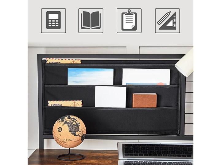 Bettso Industrialne biurko z przybornikiem / Rustic brown Drewno Metal Głębokość 60 cm Kolor Brązowy
