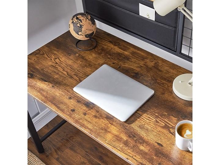 Bettso Industrialne biurko z przybornikiem / Rustic brown Styl Industrialny Metal Drewno Głębokość 60 cm Kategoria Biurka