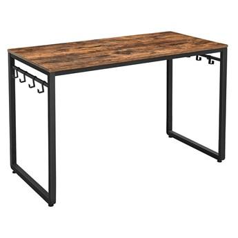 Bettso Nowoczesne biurko z wieszakami / Rustic brown