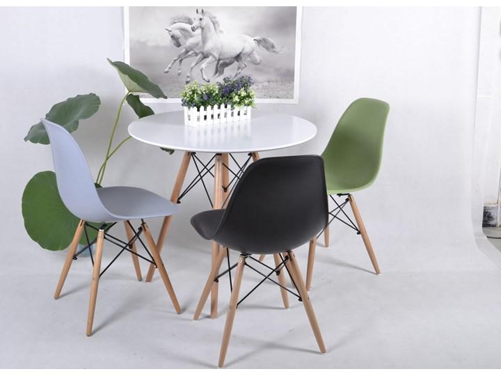 Zestaw stół okrągły Milano Paris 80cm + krzesła Enzo Kolor Biały Pomieszczenie Salon