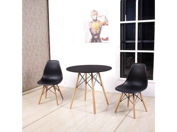 Zestaw stół okrągły czarny Milano Paris 60cm + krzesła Enzo Pomieszczenie Salon Pomieszczenie Jadalnia