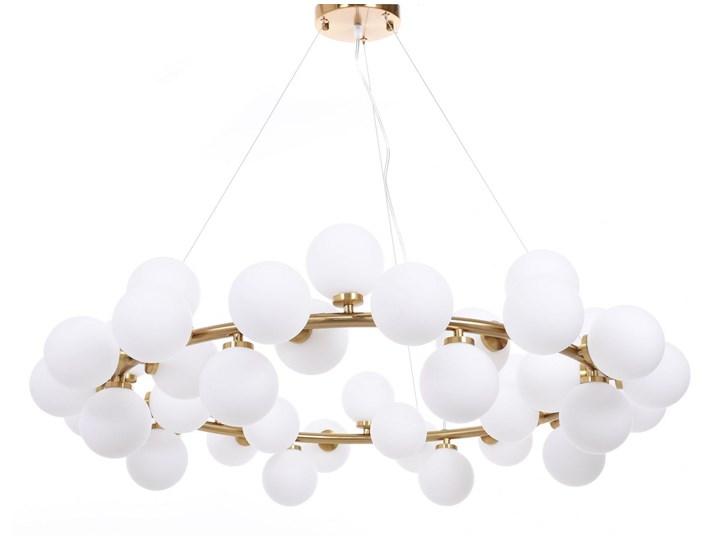 NOWOCZESNA LAMPA WISZĄCA MOSIĘŻNA MARSIADA W40 Lampa z abażurem Lampa z kloszem Szkło Lampa LED Kategoria Lampy wiszące Mosiądz Metal Styl Nowoczesny