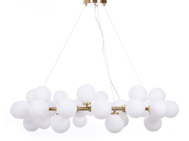 NOWOCZESNA LAMPA WISZĄCA MOSIĘŻNA MARSIADA W40 Mosiądz Lampa z abażurem Metal Lampa z kloszem Lampa LED Szkło Styl Nowoczesny