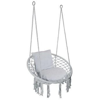 Krzesło fotel wiszący huśtawka TOGO SZARE z poduszkami