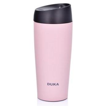 Kubek termiczny DUKA KLICK 450 ml różowy stal nierdzewna