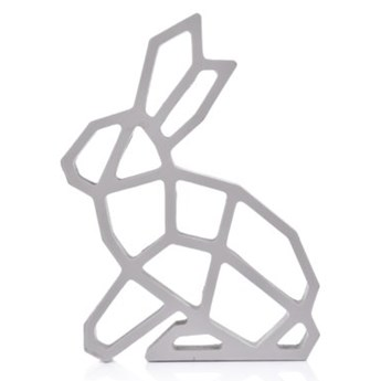Figurka wielkanocna królik DUKA SUDDIGHET 20 cm szara drewno