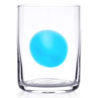 Szklanka do napojów DUKA KROG 410 ml transparentna niebieska szkło